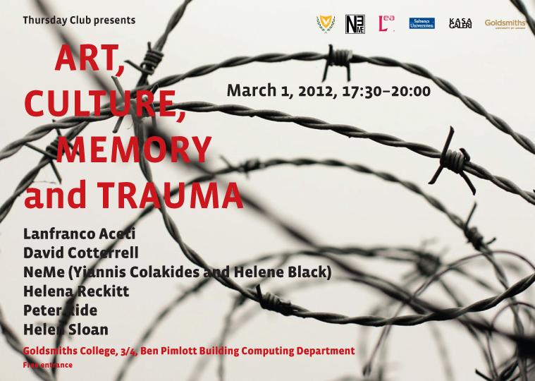 Art, Culture, Memory and Trauma