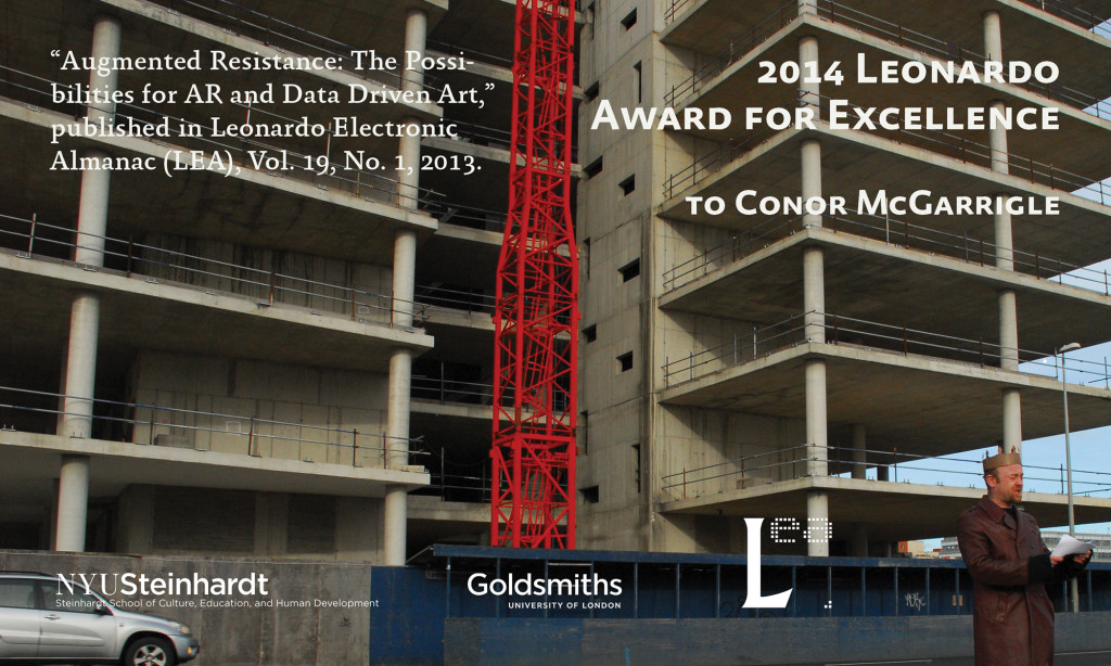Article Published in LEA Receives the 2014 Leonardo Award for Excellence